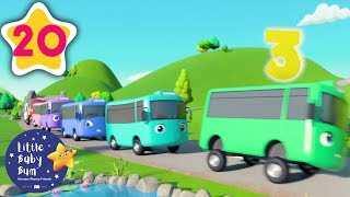 10 Little Buses   +30 Minutes of Nursery Rhymes   Moonbug TV   #vehiclessongs
