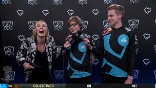 C9 Interview Group Stage Day 5 Worlds 2018
