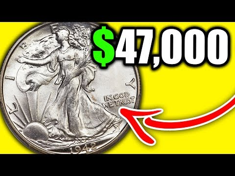 SUPER RARE COINS WORTH MONEY - 1942 WALKING LIBERTY HALF DOLLAR VALUE