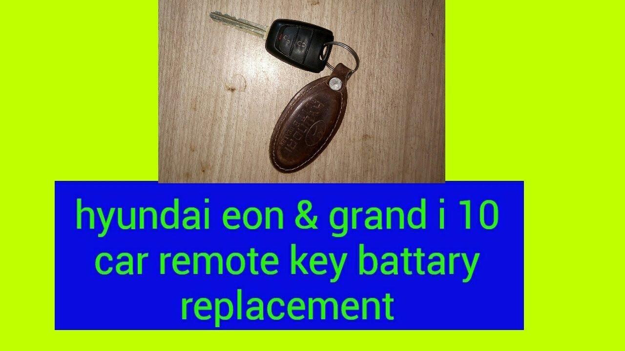 Flip Key How To Change The Battery Hyundai Eon Grand I 10 Car