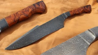 Knifemaking ~ Damascus integral harpoon clip bowie knife for hunting - Collab with Joe the Builder