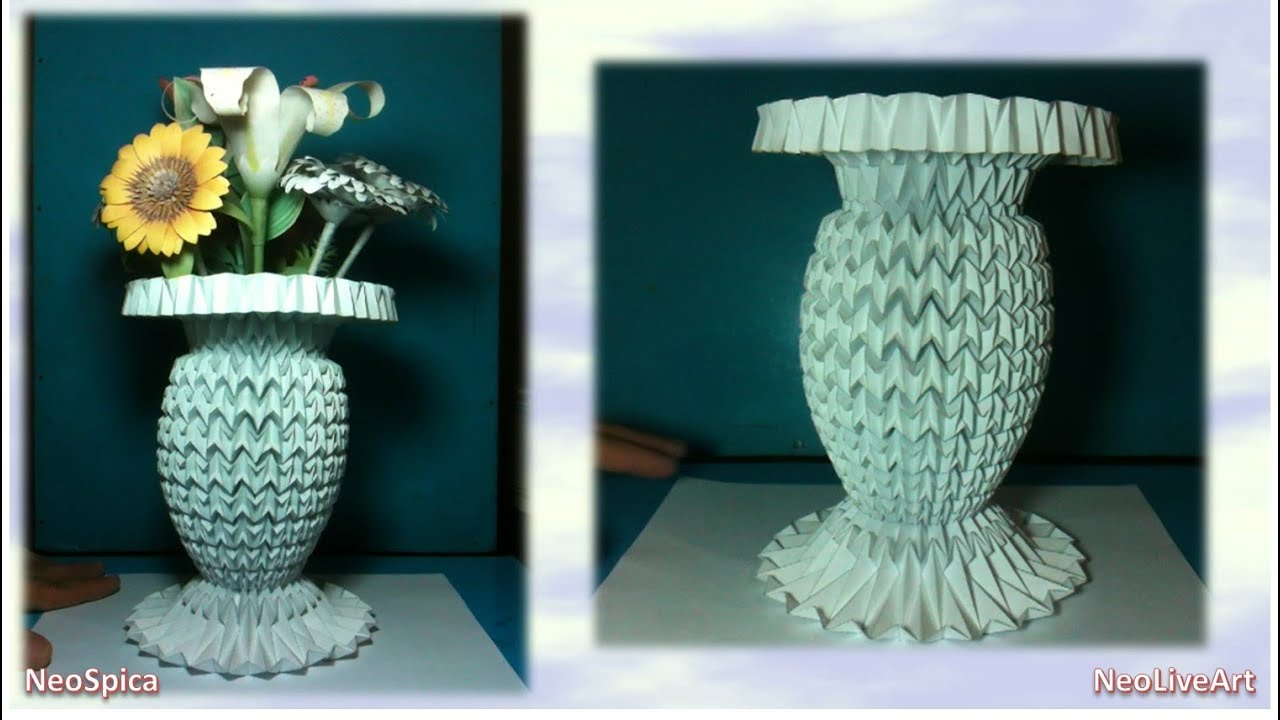 Folding Design Projects Flower Vase 1 Origami