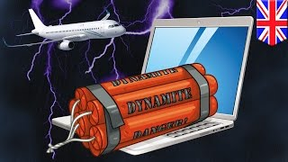 Electronics on airplanes  UK bans large devices in response to laptop bomb threat   TomoNews