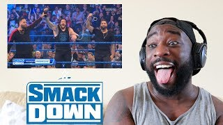 THE USOS RETURN TO RESCUE ROMAN & THE FIEND ATTACKS DANIEL BRYAN | FRIDAY NIGHT SMACKDOWN | REACTION