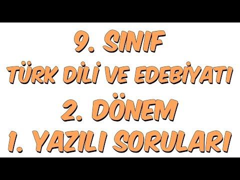 9.SINIF 2.DÖNEM 1.YAZILI | TÜRK DİLİ VE EDEBİYATI
