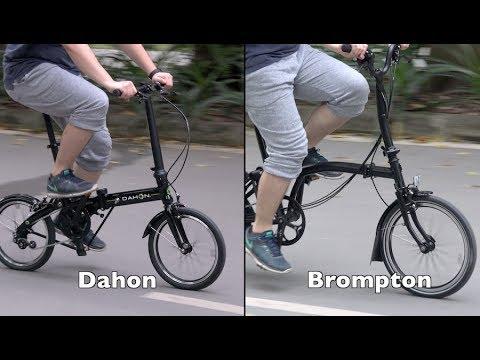 21d780845b6 Brompton vs Dahon Folding Bike - A New Comparison - YouTube