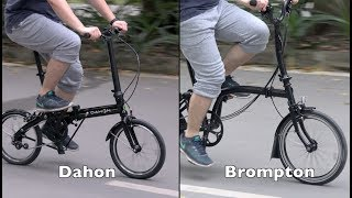 Brompton vs Dahon Folding Bike - A New Comparison