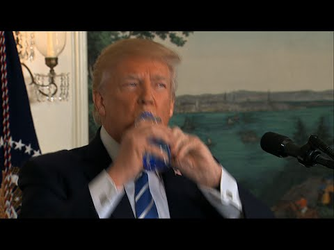 Trump Has His Own Awkward Water Bottle Moment