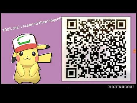Free Working Ash Hat Pikachu And Magearna Qr Codes Youtube