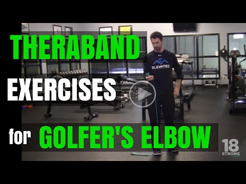 Theraband Exercises For Golfers Elbow