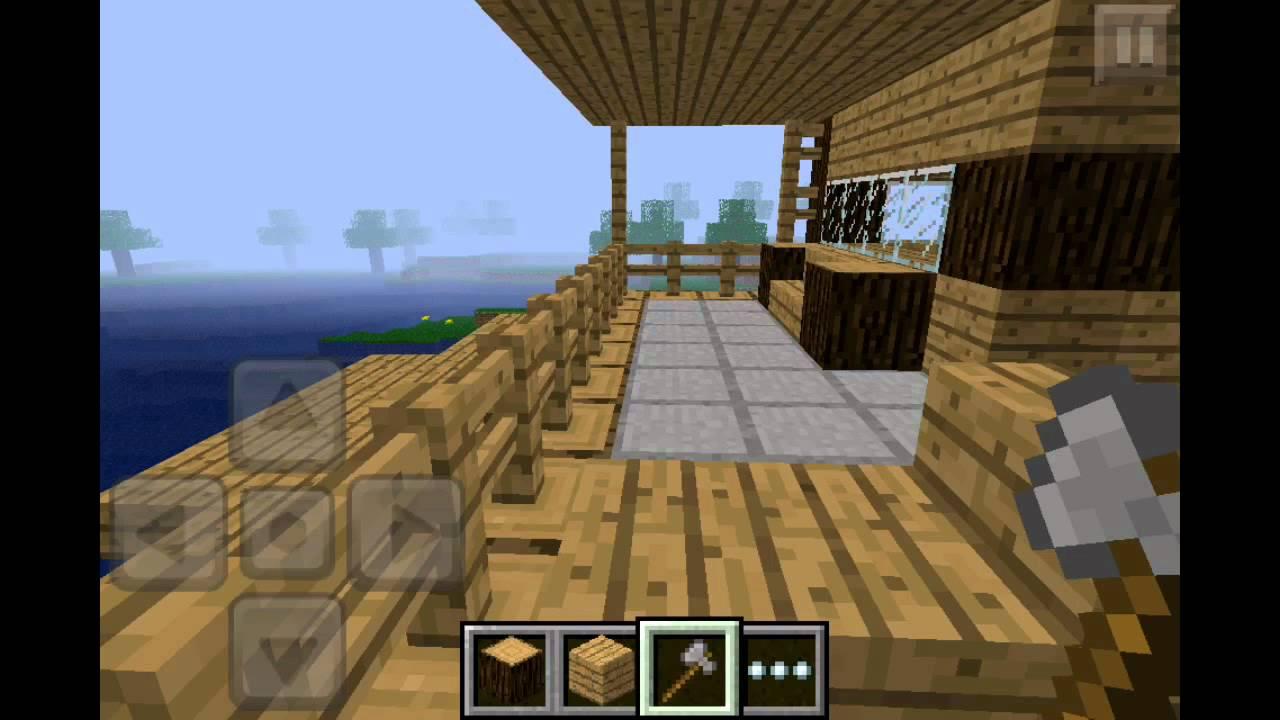 Minecraft Pe Wooden House Design YouTube