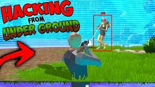 HACKING UNDERGROUND IN A BOOTLEG FORTNITE (strucid)