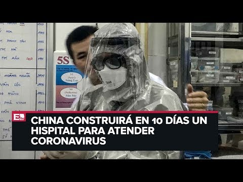 China construye hospital para atender coronavirus