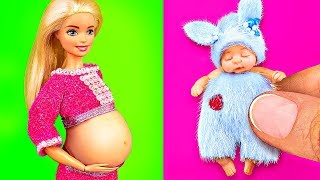10 CUTE DIY MINIATURE BARBIE BABY DOLL 〜 Pregnant Barbie, Mini Swing, Toys for Baby Doll