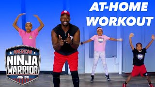 5 Min FAMILY NINJA WORKOUT with Akbar & Kids! | American Ninja Warrior Junior | Universal Kids