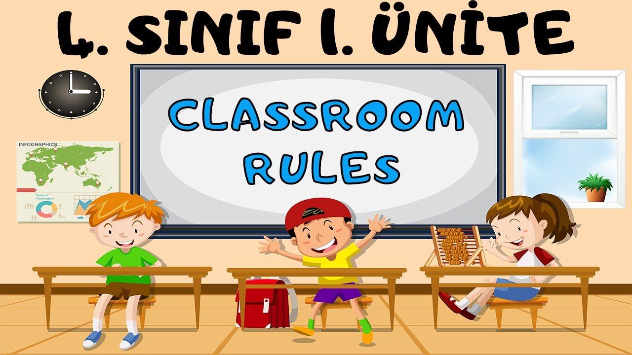 4. sınıf CLASSROOM RULES Konu Anlatım ve Sorular