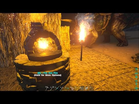 ARK: Survival Evolved #2 - The Refining Forge & the Spinosaur Spawn Camper
