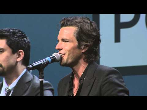 "Brandon Flowers sings ""Home Means Nevada"" at NCES 8.0"