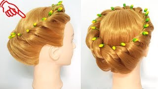 Quick & Easy Bubble Bun Hairstyles for saree || Simple Bridal hairstyle for long hair