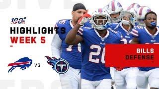 Bills Defense Holds Titans to 1 TD