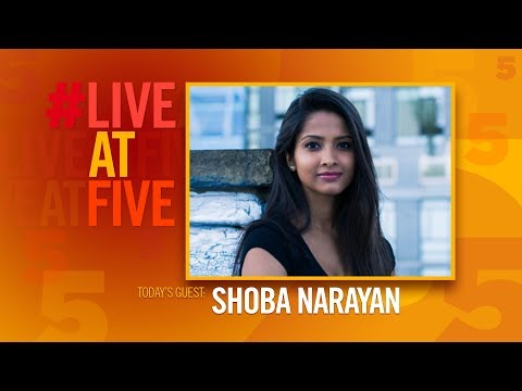 Broadway.com #LiveatFive with Shoba Narayan