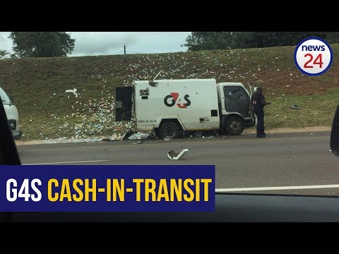 WATCH: Shots fired as robbers blow up cash-in-transit van near Pretoria