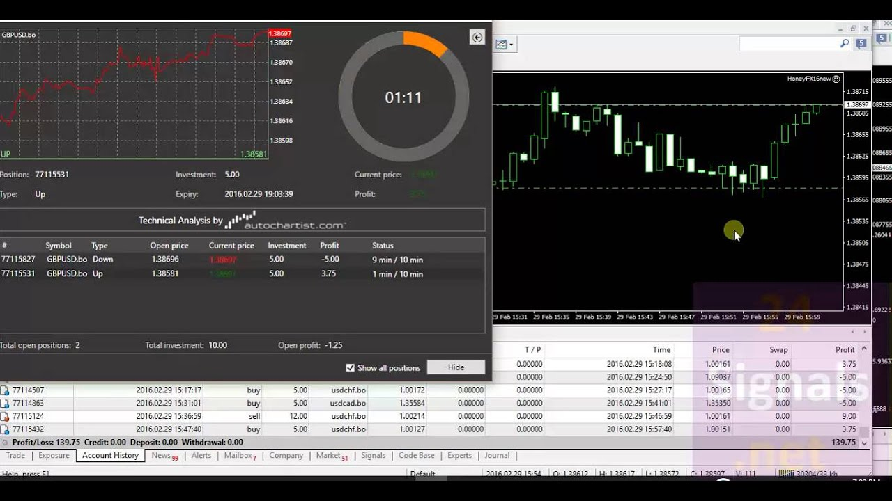 Binary option broker metatrader