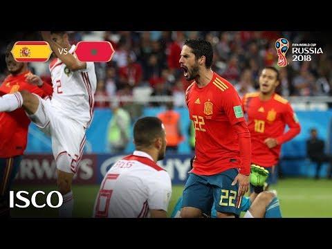 ISCO Goal - Spain v Morocco - MATCH 36
