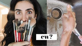 How I Clean Mỳ Makeup Brushes
