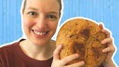 Brot selber backen! Einfaches Rezept mit Hefe   Dinkelbrot mit Sonnenblumenkernen