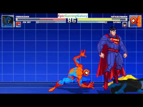 Superman And Spider-Man VS Obsidian And Jean Grey In A MUGEN Match / Battle / Fight