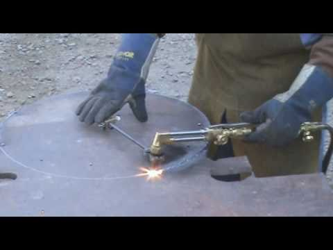 Cutting A Circle With Oxygen Acetylene Kevin Caron Youtube