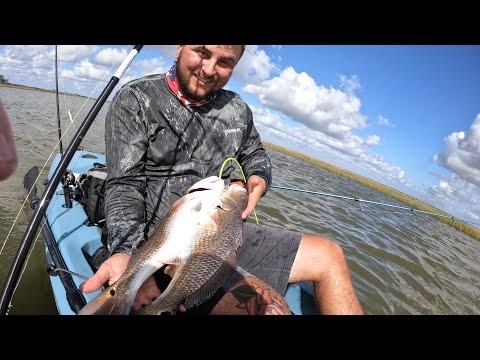 Insane School Of Redfish In The Corpus Christi Marsh! || Hobie Kayak Fishing ||