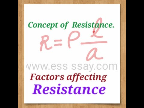 Resistance Current Electricity Physics Class 10 Part 3