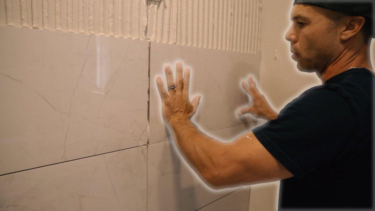 tile a shower wall tutorial