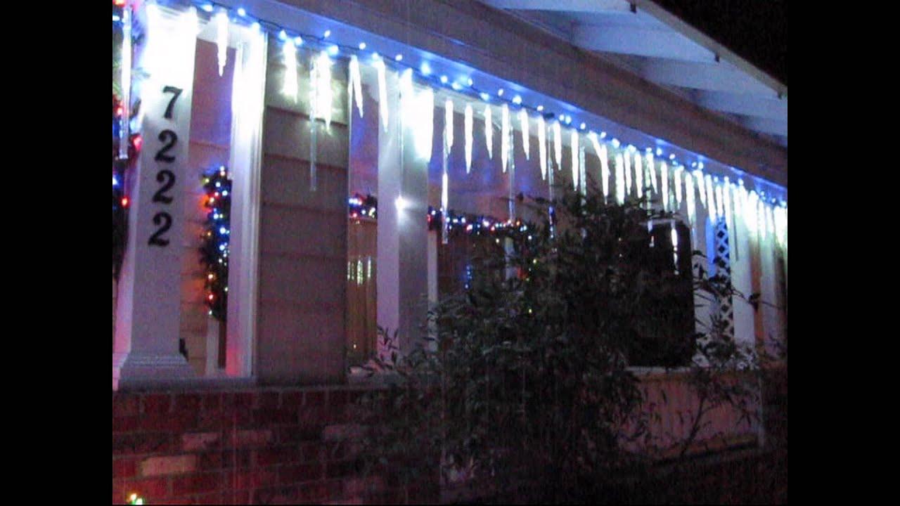 Snowfall Tube Lights (Kurt Adler) / Christmas 2014 - YouTube