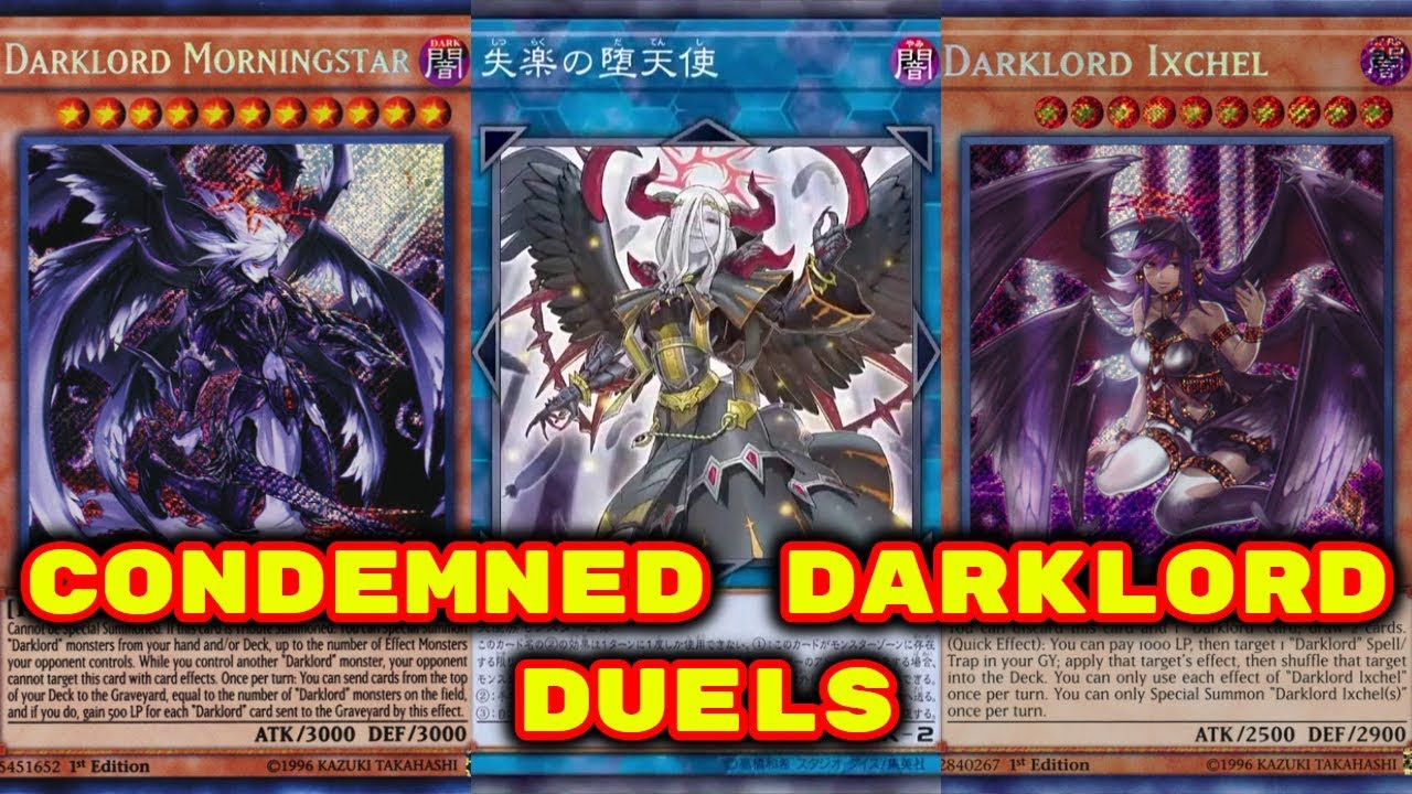 Yugioh - Condemned Darklord Duels (Deck Download in