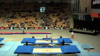 HES Bartlomiej (POL) - 2015 Trampoline Worlds - Qualification TR Routine 1