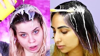 ✨13 DIY HAIR MASKS FOR SHINY HAIR | Best Makeup Tutorials 2018 | Woah Beauty