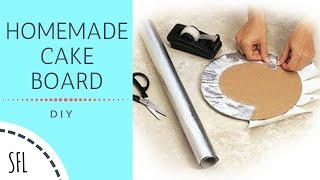 DIY CAKE BOARD | HOMEMADE CAKE BOARD | Simple Frugal Life