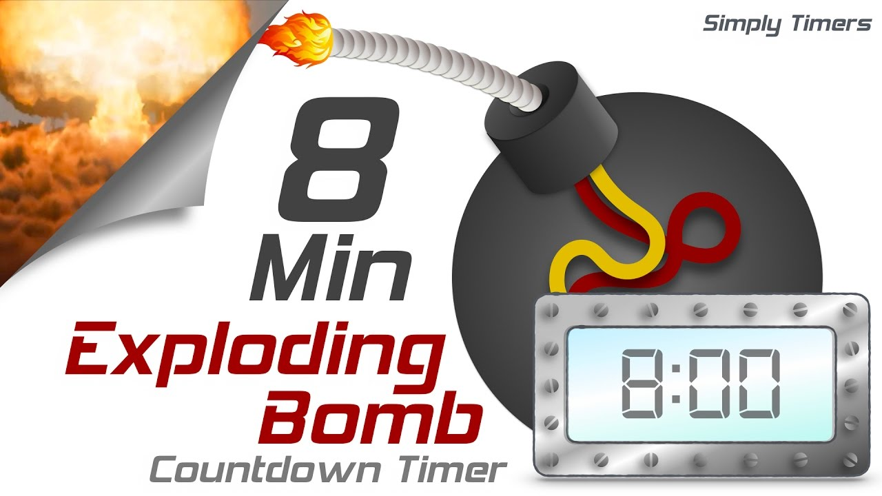 8 min exploding countdown timer