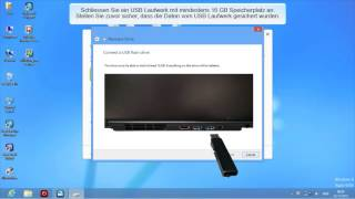 Microsoft Windows 8 - Ein USB Recovery Laufwerk anlegen