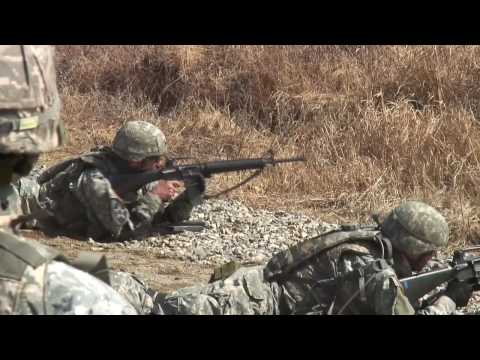 US Army convoy live-fire combat training near the ...
