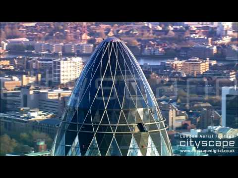 London Aerial Footage - The Gherkin (HD)