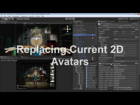 Applying a 2D Talking Avatar to a 3D Head