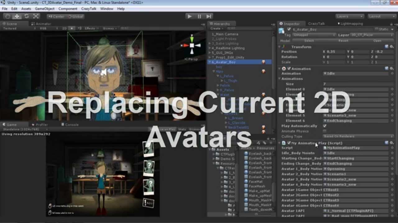 Applying a 2D Talking Avatar to a 3D Head