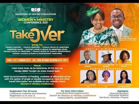 WOMEN IN MINISTRY WEEKLY PROGRAM  16/09/21