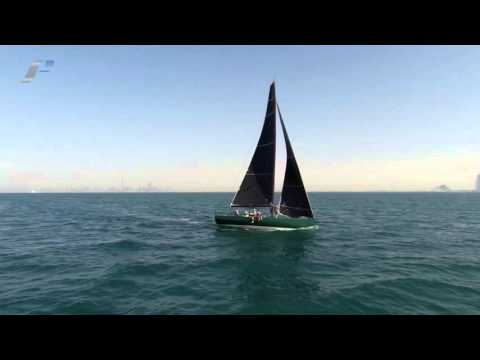C40 MKII Yacht Rebellion  Inaugural sail Dubai Offshore Sailing Club 5 February 2015  HD