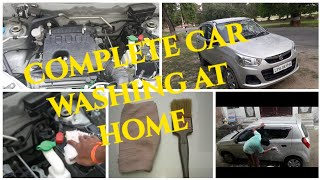 car washing at home/ Complete car cleaning at home/ घर पर ही कार की धुलाई कैसे करें