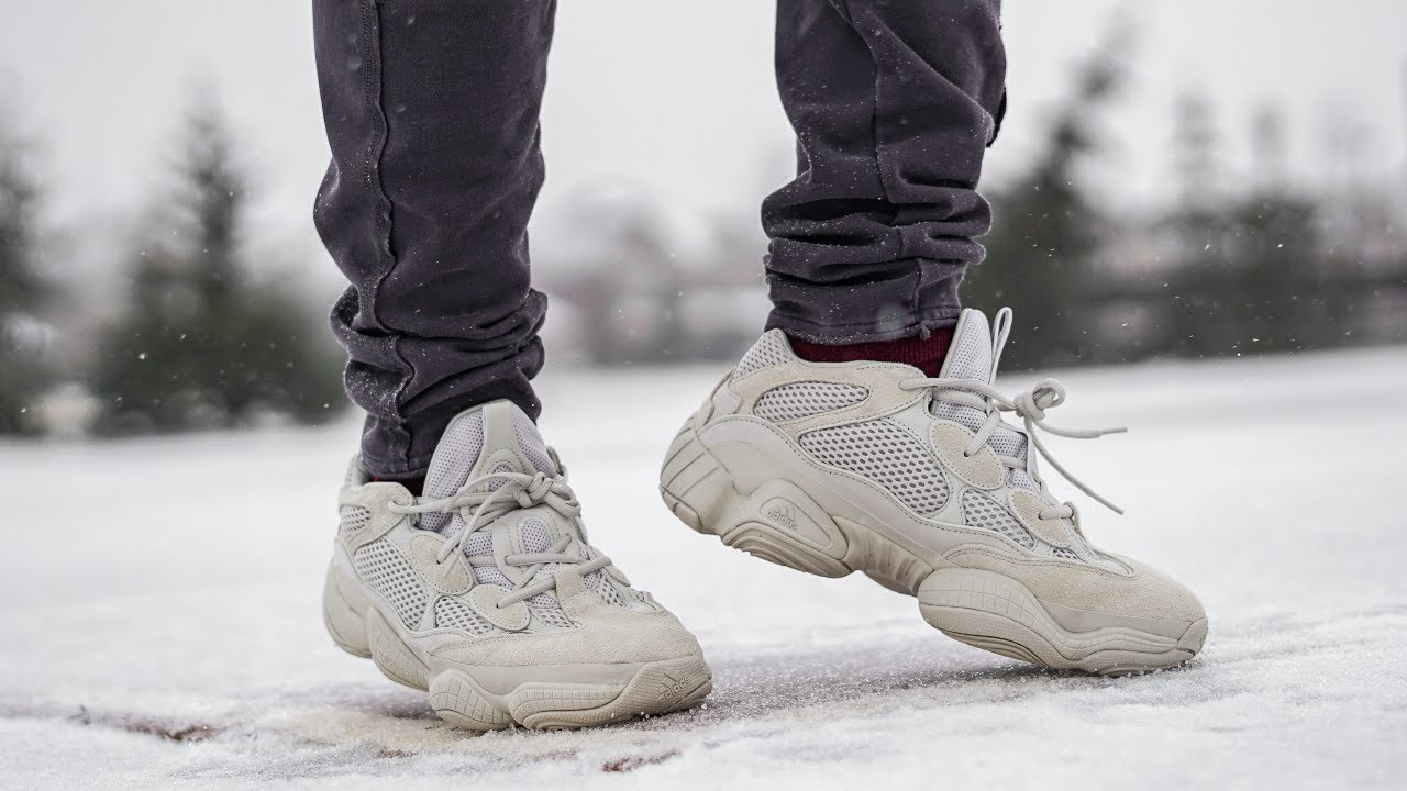 reputable site b985b 8cf0c Why you LOVE OR HATE THE YEEZY 500 | YEEZY 500 BLUSH/ DESERT RAT ON FOOT  REVIEW